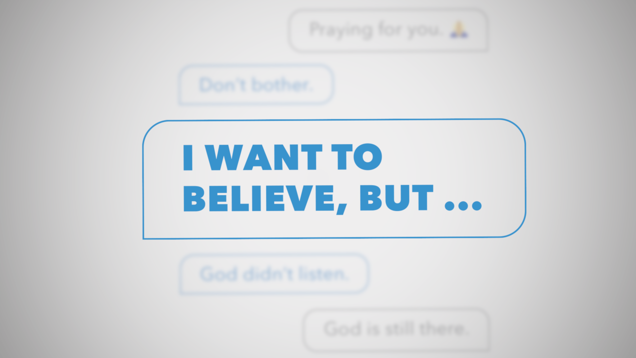 I want to believe...but
